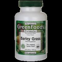 Młoda Trawa Jęczmienna - Barley Grass 500 mg (240 tabl.) Swanson