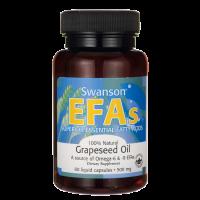 Olej z nasion Winogron - Grapeseed Oil 500 mg (60 kaps.) Swanson