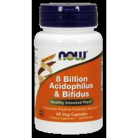 8 Billion Acidophilus & Bifidus - Probiotyk (60 kaps.) Now Foods