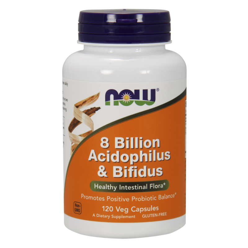 8 Billion Acidophilus & Bifidus - Probiotyk (120 kaps.) Now Foods