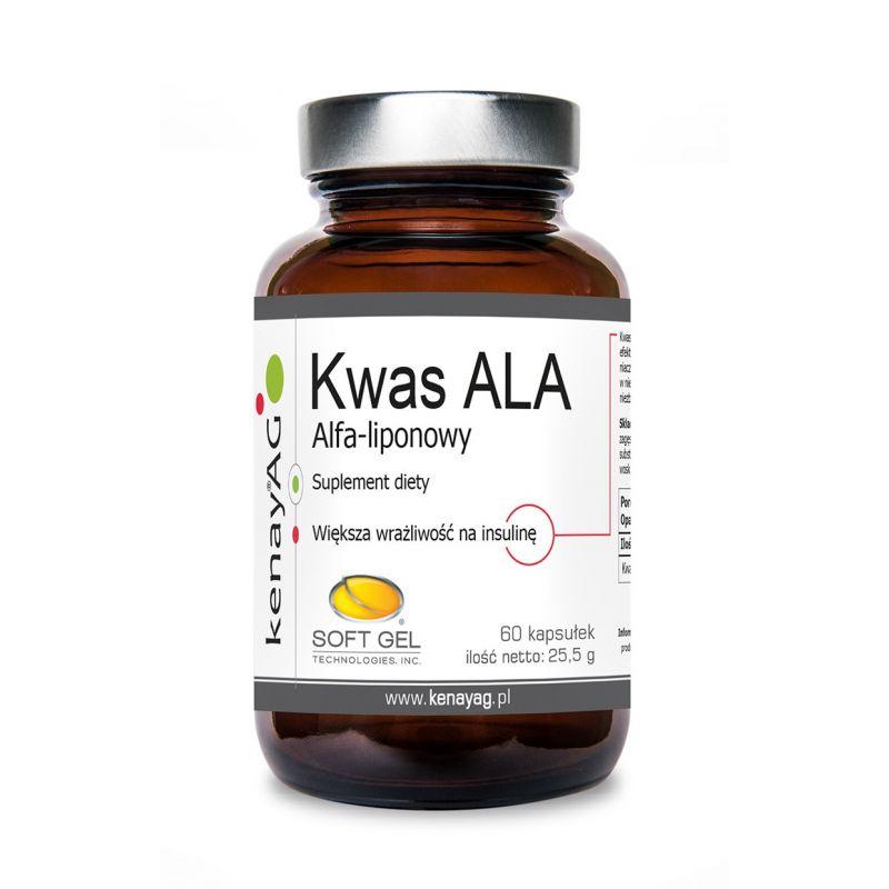 ALA - Kwas alfa liponowy (60 kaps.) Soft Gel