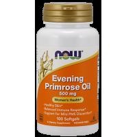 Evening Primrose Oil - Olej z Wiesiołka Dwuletniego z GLA (100 kaps.) NOW Foods