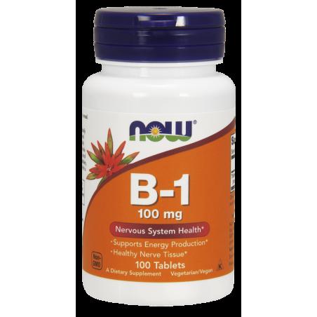 Witamina B1 (Tiamina) 100 mg (100 tabl.) Now Foods