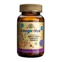 Kanguvity do ssania (Kangavites) zestaw Witamin i Minerałów (smak soczyste jagody) (60 tabl.) Solgar