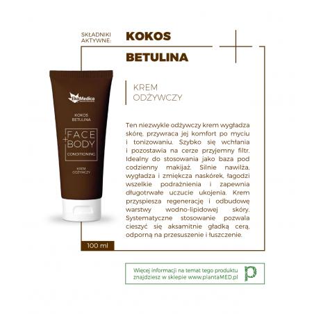Kokos + Betulina - Krem Odżywczy Face+Body (100 ml) EkaMedica