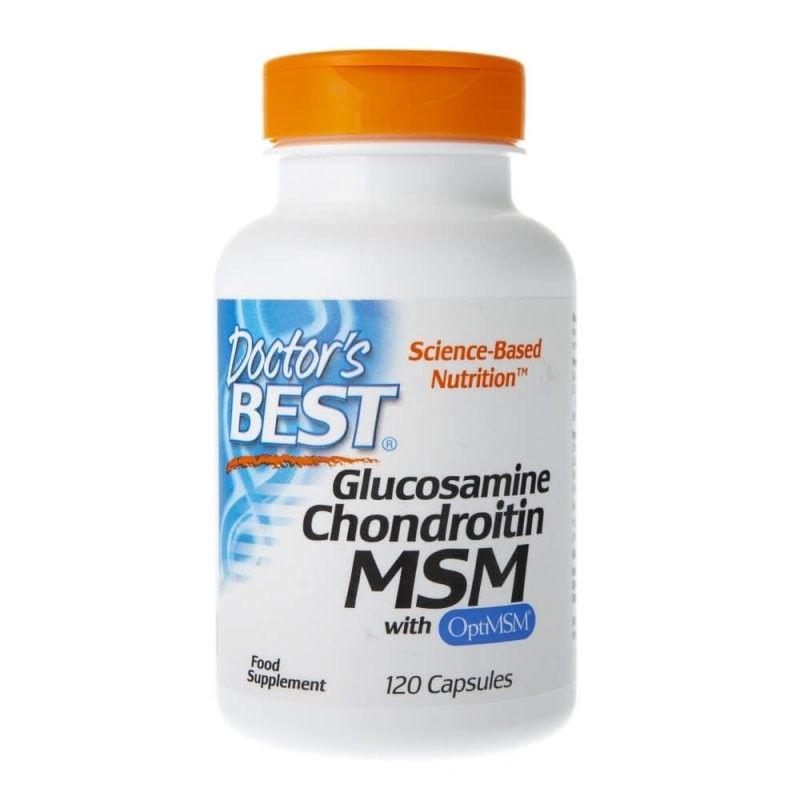 Glukozamina, Chondroityna i MSM (120 kaps.) Doctor's Best