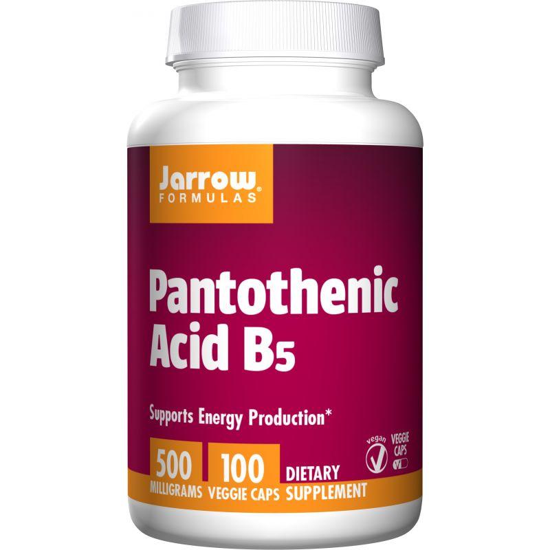 Pantothenic Acid - Kwas Pantotenowy (Witamina B5) 500 mg  (100 kaps.) Jarrow Formulas