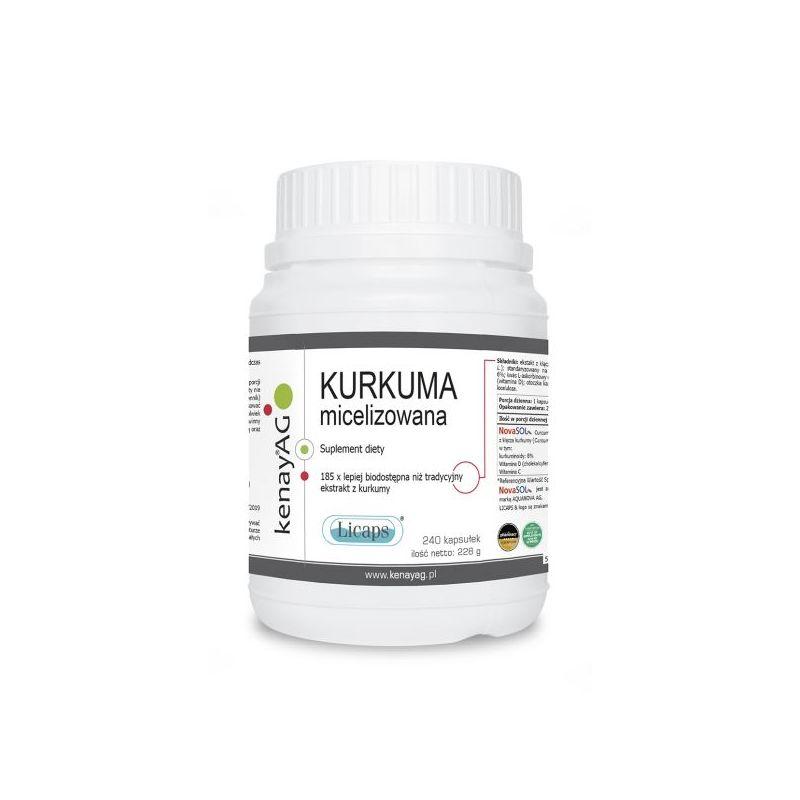 Kurkuma micelizowana 800 mg (240 kaps.) Kenay