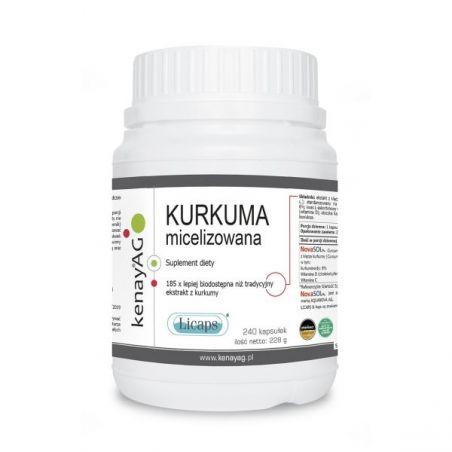 Kurkuma micelizowana 800 mg (240 kaps.) KenayAG
