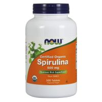 BIO Spirulina 500 mg (500 kaps.) NOW Foods