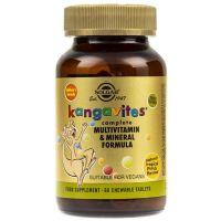 Kanguwity do ssania (Kangavites) zestaw Witamin i Minerałów (smak owoce tropikalne) (60 tabl.) Solgar