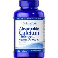 Przyswajalny Wapń 600 mg + Witamina D3 500 IU (100 kaps.) Puritan's Pride