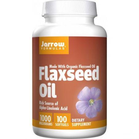 Flaxseed Oil 1000 mg - Olej lniany (100 kaps.) Jarrow Formulas