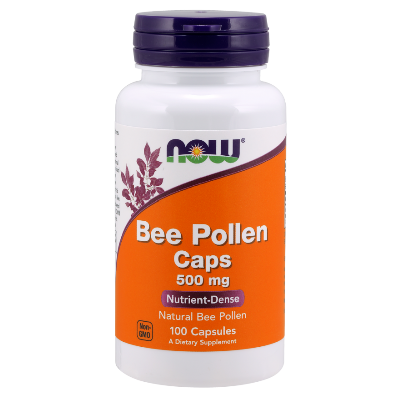Bee Pollen - Pyłek Pszczeli 500 mg (100 kaps.) NOW Foods
