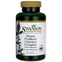 Senna Psyllium Cascara Complex (90 kaps.) Swanson