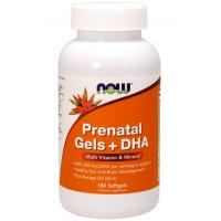 Prenatal Gels + DHA - Witaminy i Minerały Prenatalne + DHA (180 kaps.) NOW Foods