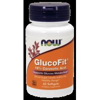 GlucoFit - wyciąg z liści Banaba (60 kaps.) NOW Foods