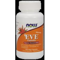 EVE Superior Womens Multi - Multiwitamina i Składniki Mineralne dla Kobiet EVE bez Żelaza (120 kaps.) NOW Foods