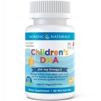 Childrens DHA 250 mg - DHA i EPA dla dzieci o smaku truskawkowym (90 kaps.) Nordic Naturals