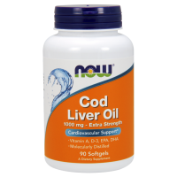 Cod Liver Oil - Tran 1000 mg (90 kaps.) NOW Foods