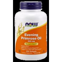 Evening Primrose Oil - Olej z Wiesiołka Dwuletniego z GLA (250 kaps.) NOW Foods