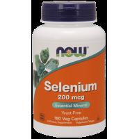 Selenium - Selen 200 mcg (180 kaps.) NOW Foods