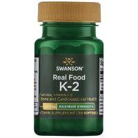 Witamina K2 naturalna 200 mcg (30 kaps.) Swanson