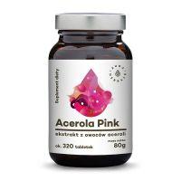 Acerola Pink ekstrakt z owoców - 25% Witaminy C (320 tabl.) Aura Herbals