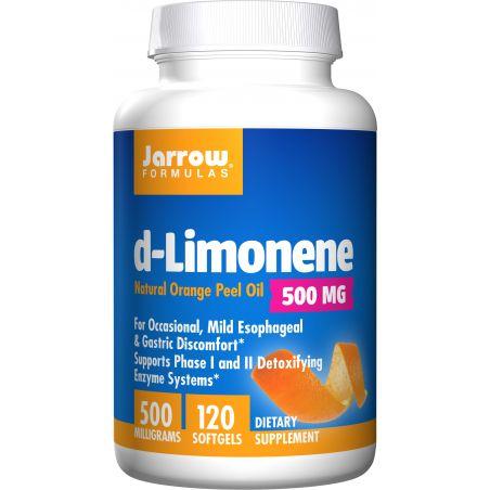 D-Limonen 500 mg z oleju ze skórki pomarańczowej (120 kaps.) Jarrow Formulas