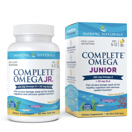 Complete Omega Junior 283 mg + GLA 35 mg (90 kaps.) Nordic Naturals