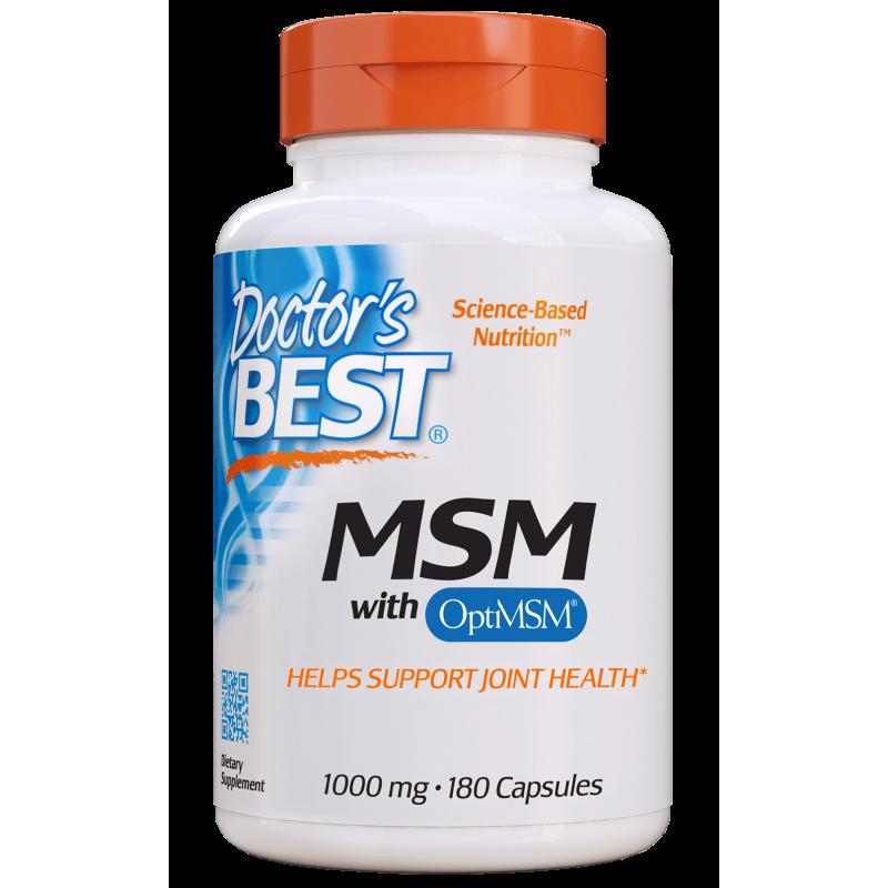 Siarka MSM 1000 mg - OptiMSM Metylosulfonylometan (180 kaps.) Doctor's Best