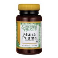 Muira Puama 250 mg - ekstrakt 10:1 z Korzenia Ptychopetalum (60 kaps.) Swanson