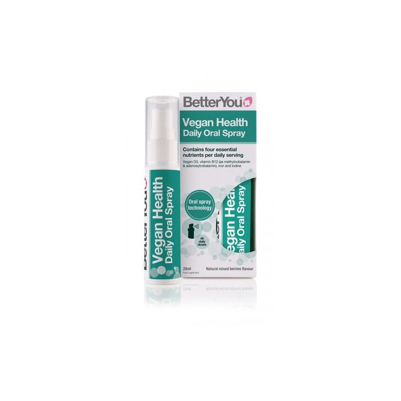 Vegan Health Oral Spray - Żelazo + Jod + D3 + B12 (25 ml) BetterYou