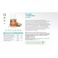 Iron Complex - Żelazo (100 tabl.) NOW Foods