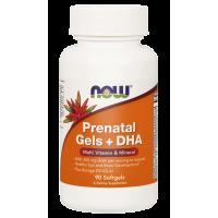 Prenatal Gels + DHA - Witaminy i Minerały Prenatalne + DHA (90 kaps.) NOW Foods