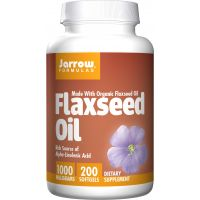 Flaxseed Oil 1000 mg - Olej lniany (200 kaps.) Jarrow Formulas